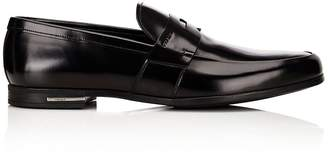 Prada Men's Apron-Toe Penny Loafers