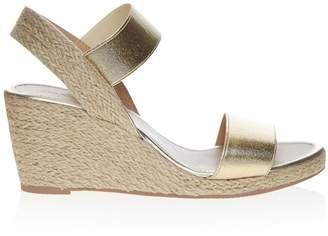eb870e97bda Gold Low Wedge Sandals - ShopStyle UK