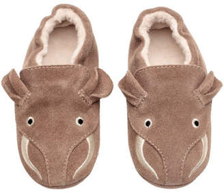 H&M Suede Slippers - Gray