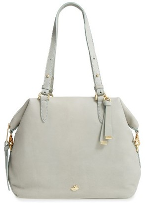 Brahmin Charleston Delaney Southcoast Leather Tote - Grey $395 thestylecure.com
