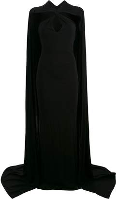 DSQUARED2 cape maxi dress