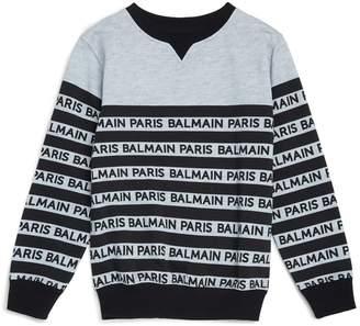 Balmain Logo Stripe Sweatshirt