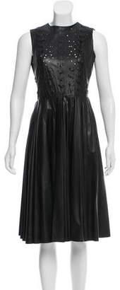 Prabal Gurung Pleated Leather Dress