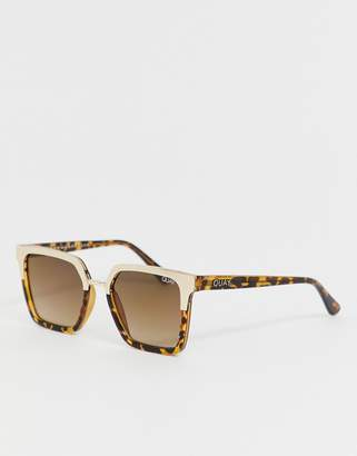 Quay X Jaclyn Hill Upgrade square sunglasses in tort