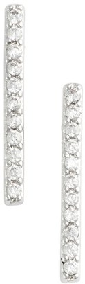 Women's Jules Smith 'Micro' Pave Bar Stud Earrings $45 thestylecure.com