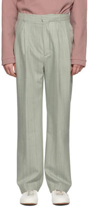 Sies Marjan Green Wool Andy Trousers