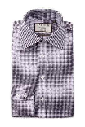 Thomas Pink Slim Fit Elmsmere Check Dress Shirt