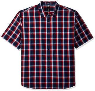 Dickies Men's Big and Tall Yarn Dyed Plaid Short Sleeve Shirt