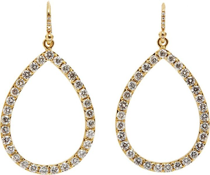 Irene Neuwirth Diamond Collection Women's Cutout Drop Earrings-Colorle