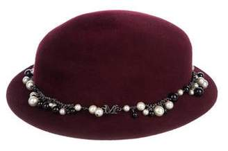 Maison Michel Embellished Felt Hat