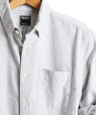 Todd Snyder Japanese Selvedge Oxford Button Down Shirt in Grey