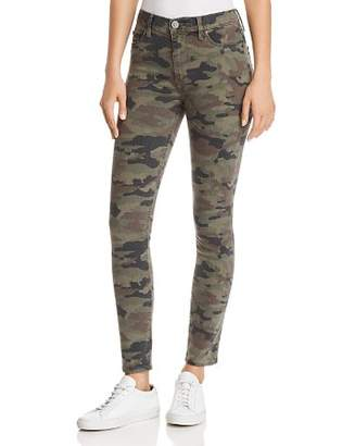 Hudson Barbara High Rise Ankle Skinny Jeans in Deployed Camo