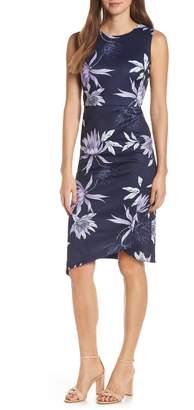 Vince Camuto Floral Print Asymmetrical Hem Dress