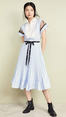 RED Valentino Pleated Shirtdress