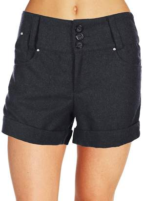 Finesse Women's Button Soft Blended Plus Size & Juniors Size Shorts in 2 Colors