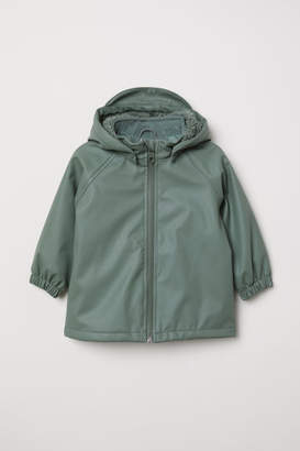 H&M Fleece-lined Rain Jacket - Green