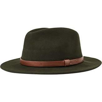 f19ddd6afa5 Brixton Men s Messer Medium Brim Felt Fedora Hat