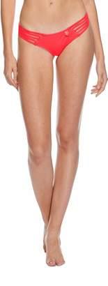Body Glove Women's Smoothies Amaris Low Rise Cheeky Coverage Swimsuit Bikini Bottom, Black, M