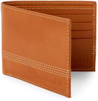 Timberland Tan Leather Bi-Fold Wallet