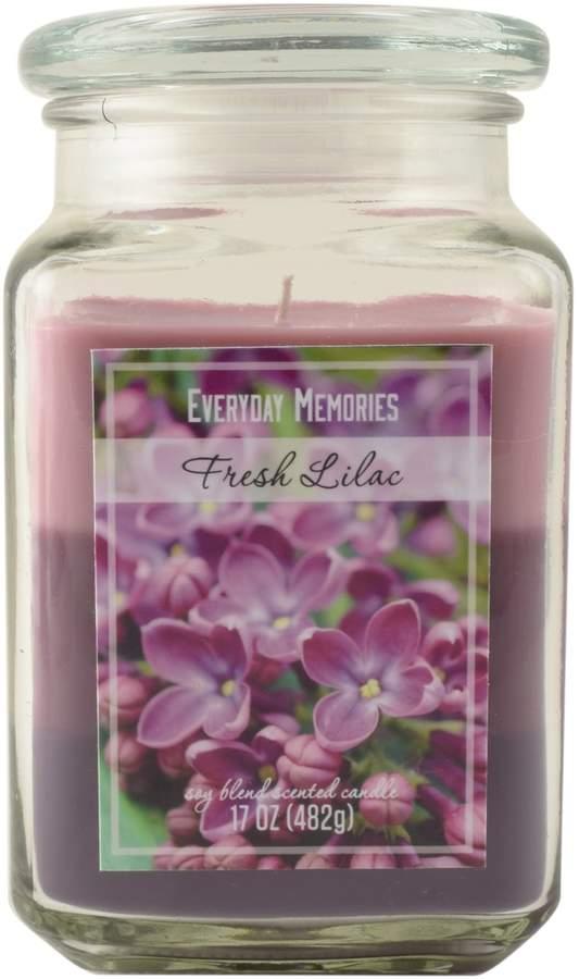 Everyday Memories Fresh Lilac 17-oz. Tri-Pour Candle Jar