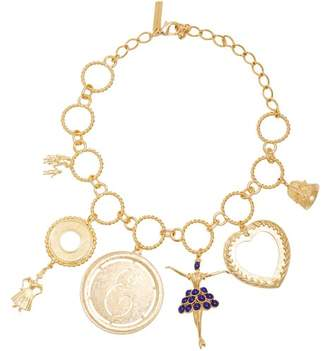 Emilia Wickstead Gold Plated Charm Necklace - Womens - Gold