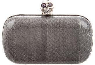 Alexander McQueenAlexander McQueen Python Skull Box Clutch