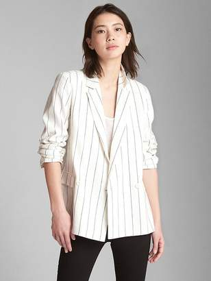 Gap Classic Stripe Girlfriend Blazer in Linen