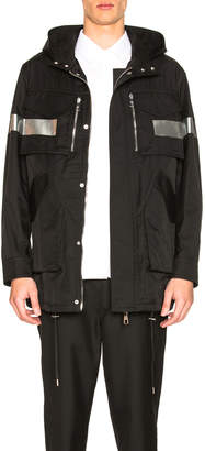 Neil Barrett Single Stripe Hooded Anorak