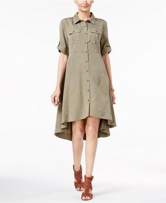 ECI Swing High-Low Utility Shirtdress $70 thestylecure.com