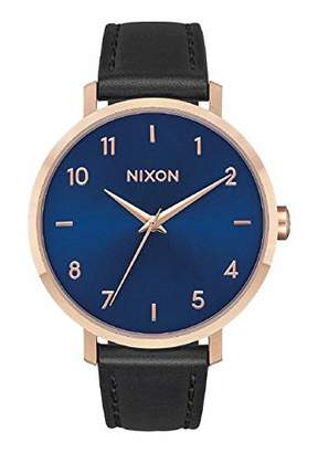 Nixon Women's Arrow Stainless Steel Japanese-Quartz Watch with Leather-Synthetic Strap