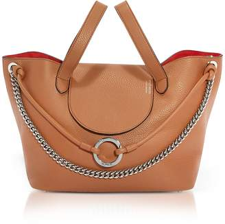 Meli-Melo Tan Leather Linked Thela Medium Tote Bag