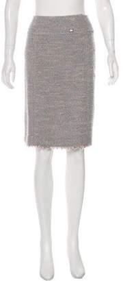 Chanel Metallic Bouclé Skirt tan Metallic Bouclé Skirt