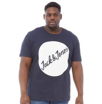 b2f565fae Jack and Jones Mens Plus Size Traffic T-Shirt Total Eclipse 2
