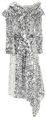 Silver Sequin Dress Shopstyle Uk