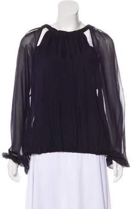 Lanvin Long Sleeve Silk Blouse w/ Tags