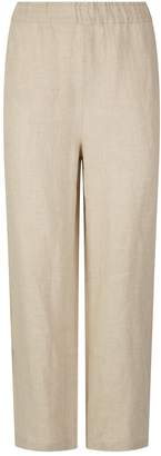 Eileen Fisher Linen Cropped Trousers