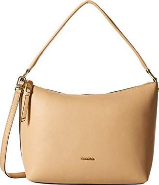 Calvin Klein womens Angelina Pebble Leather Hobo