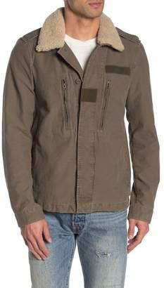 AllSaints Shearling Collar Rain Jacket