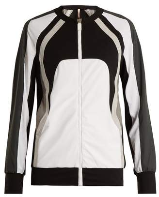 NO KA 'OI No Ka'oi - Nola Zip Through Performance Jacket - Womens - White Multi