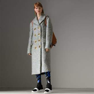 Burberry Laminated Cashmere Blend Double-breasted Coat