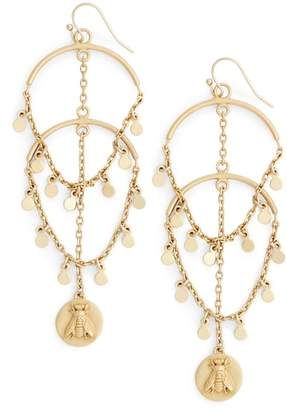 Vince Camuto Coin & Bee Charm Drop Earrings