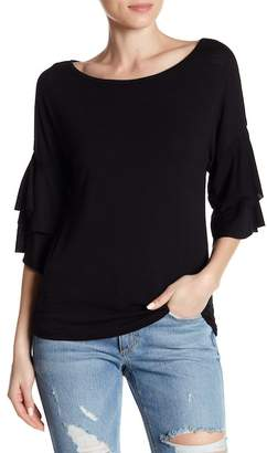 Poof Layered Double Sleeve Top