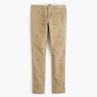 J.Crew 484 Slim Fit Chino With Embroidered Lighthouses