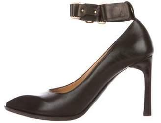 Lanvin Pointed-Toe Ankle Strap Pumps