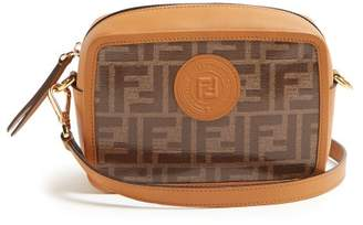 Fendi Double F Leather Mini Cross Body Bag - Womens - Tan Multi