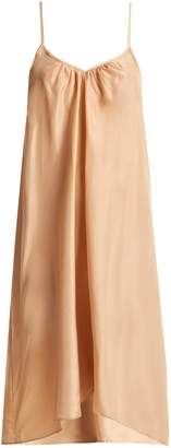 LOUP CHARMANT V-neck silk slip dress