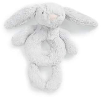 Jellycat 'Bashful Grey Bunny' Grabber Rattle