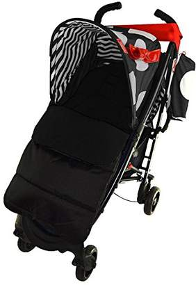 Koochi Footmuff/Cosy Toes Compatible with Pushmatic Pushchair Black Jack