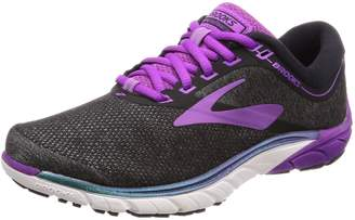 Brooks Women's PureCadence 7 Running Shoe (BRK-120261 1B 3939390 9 BLK/PUR/MUL)