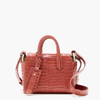 J.Crew The Harper mini satchel in croc-embossed leather